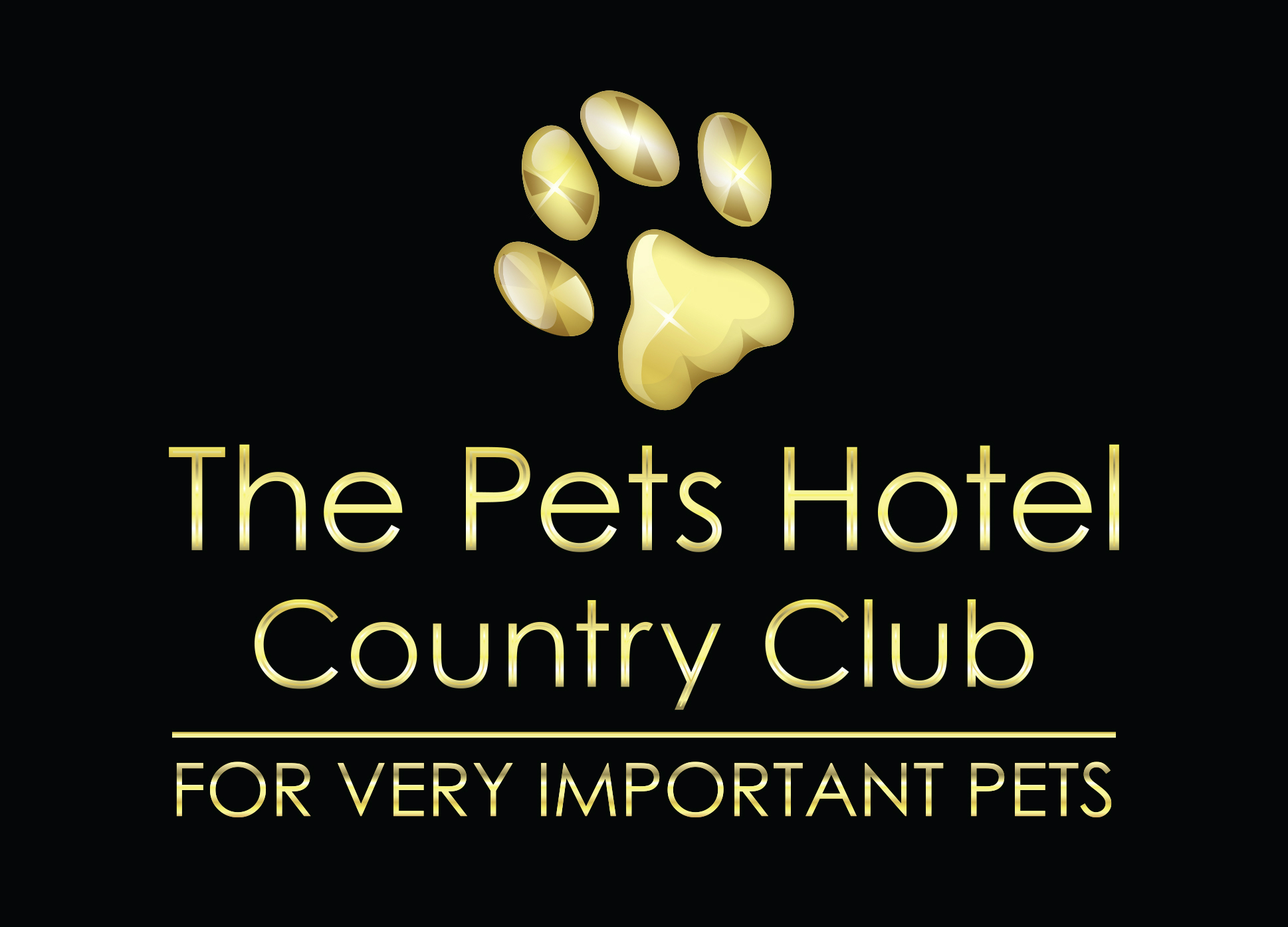 Pets Hotel Country Club Black and Gold low res